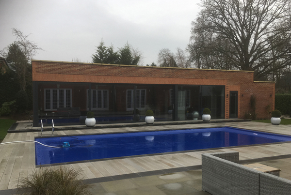 Large pool house on exclusive estate, Cobham